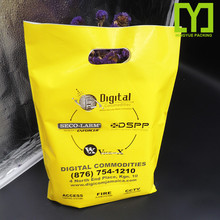 YiWu Wholesale Price HDPE/LDPE Die Cut Handle Custom Plastic Shopping Retail Bags With Own Logo