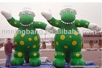 height 5 M fixed advertising inflatable dinosaur mascot