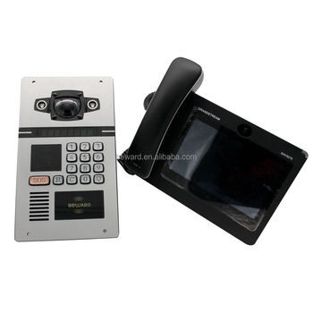 interphone system communicate system sip intercom multi apartment video door phone