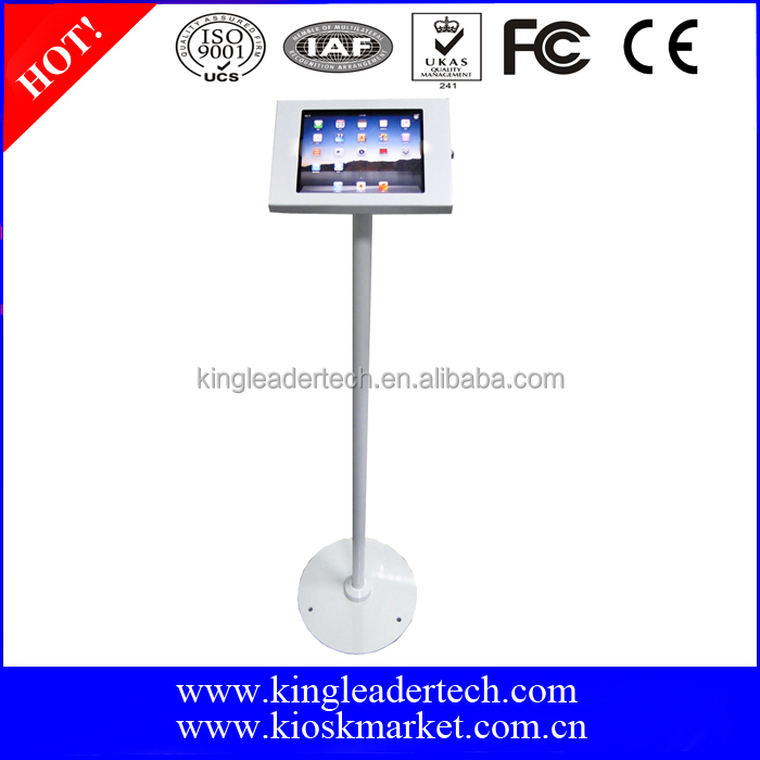Ipad tablet kiosk stand with lock for 9.7 inch screen tablet