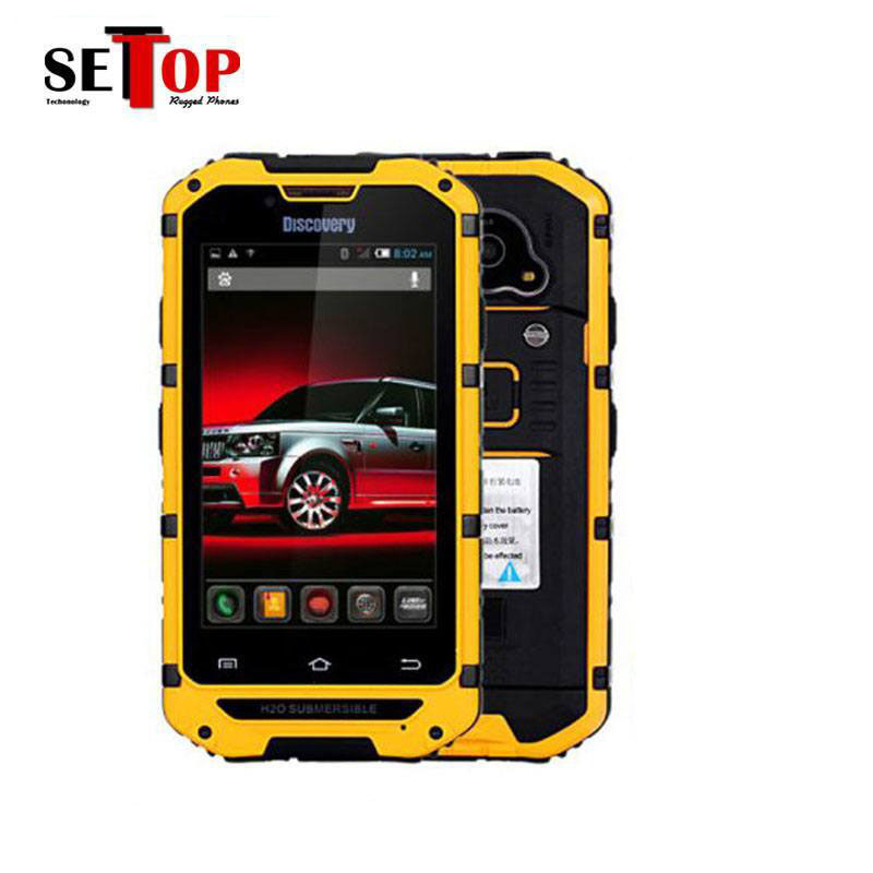 3g rugged smartphone Discovery V6 4inch IPS screen IP68 waterproof android active dual sim card android smart phone