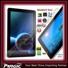 "Cheap tab pc 9.0"" Ployer momo9 Allwinner capacitive android 4 tablet"