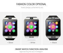 Fashionable 2016 smart watch phone manual with sim, smart watch with camera