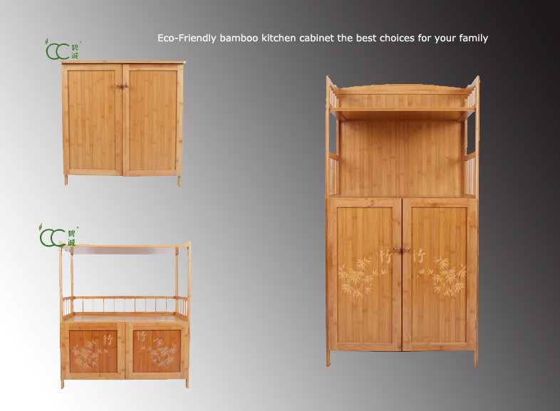 Cheap price factory directly custom bamboo kitchen for Bamboo kitchen cabinets cost