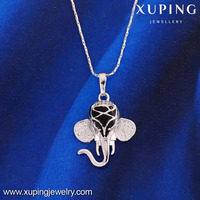 31658 XUPING fashion white gold color Neutral new design elephant pendant