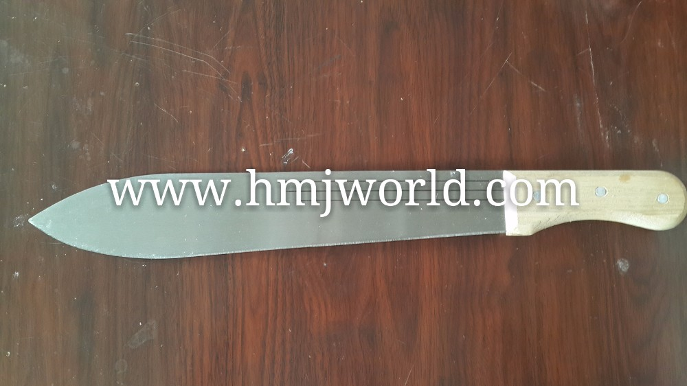 Carbon steel farming firm machete with plastic handle for sale