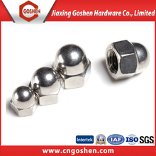 Stainless steel hex head dome shape nut