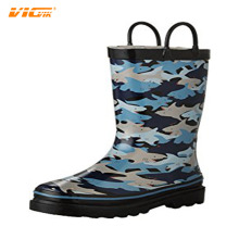 2017 Rain Boots Shoes Kids Boots Black Blue Fish Rubber Sole Ankle Shoes Kids Shoes Brand Rain Boots Wholesale Cheap DXF143