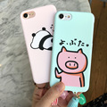 Cheap Cute Pig Panda Print Cartoon Character Hard PC Material Tassel Phone Case