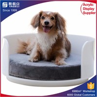 plastic pet products /cat bed with cushion/pet bed luxury for dogs