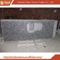 China Cheap Wave flower Grey granite kitchen countertops and counter tops