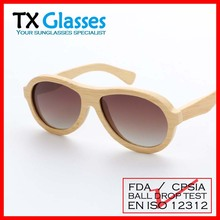 Custom aviator bamboo sunglasses bamboo aviator sun glasses eyewear T8415