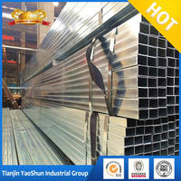 thick wall 25*50mm pre galvanized square & rectangular steel pipe