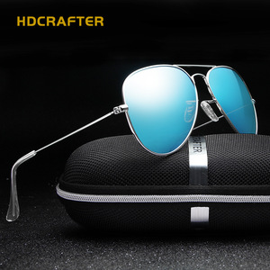 HDCRAFTER mirror lens polarized aviator driving shield sunglasses