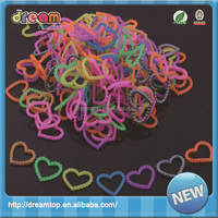 DIY rainbow colorful silicone loom band white rubber band