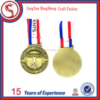 Custom Shiny Finish Olympic Gold Silver Bronze Medals for Sale