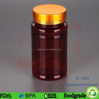 150cc / 200cc / 250cc Pharmaceutical Bottle PET Plastic Material With Screw Cap Bottom For Nutritional Food Tablet