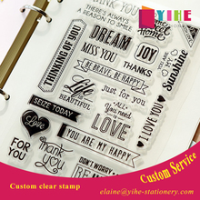transparent carton clear stamp custom rubber stamp for kids