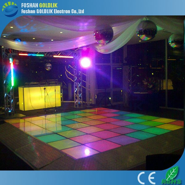 DMX RGB Colorful Change lights Make LED Dance Floor