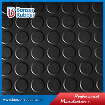 Nanjing Bonzer black color commercial grade round dot floor mat
