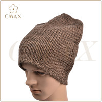 Ski color mixed yarn plain acrylic/wool/cashmere classic men fashion winter knitted hat/beanie