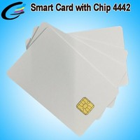 White Plastic PVC Blank Card with Chip 13.56MHZ 125KHZ SLE4428 SLE4442