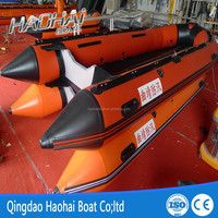 5m 10 person aluminum floor inflatable fishing rescue boat