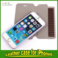 high quality leather phone case, wallet card holder Leather Case For IPhone 6, luxury Leather Case