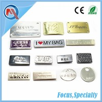 Custom Engraved Logo Metal Tag Label For Handbags