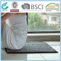 microfiber chenille color changing thin bath mat