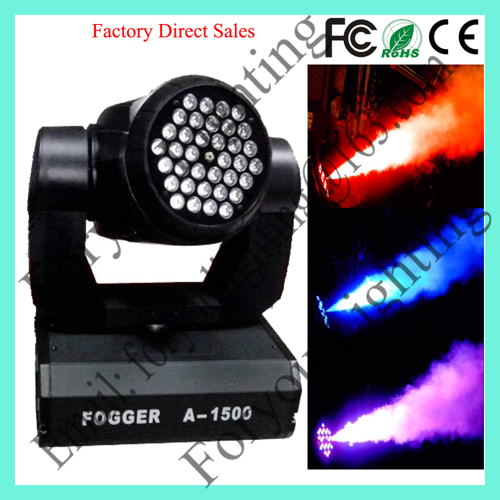 Factory Wholesale 36*3W RGB 1500W LED Moving Head Smoke Machine