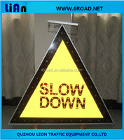 Solar LED Triangle Road Working Electric Traffic Signs