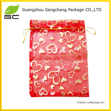 wholesale customized printed elegant gift organza bags