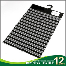 Black and white stripe spandex punto roma fabric in knitted fabric