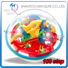 Mini Qute 100 barriers 3D labyrinth maze magical intellect ball kids balance training educational toy 3d puzzle game NO.923
