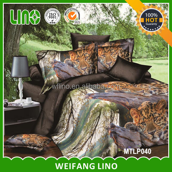 3d animal pictures/bedding/super king size mattresses/wholesale duvet