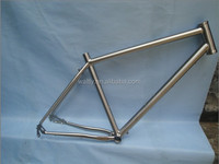 No foldable cyclocross titanium bike frame