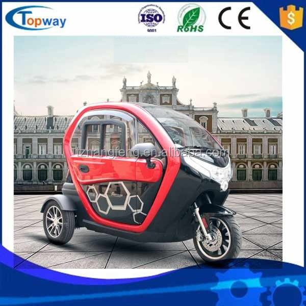 2doors 3 tyres fully closed electrical tricycle china made passenger car