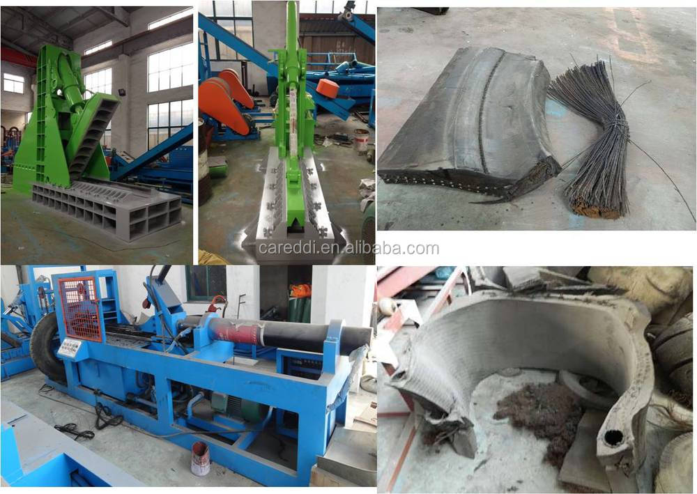 waste tire shredder recycling line