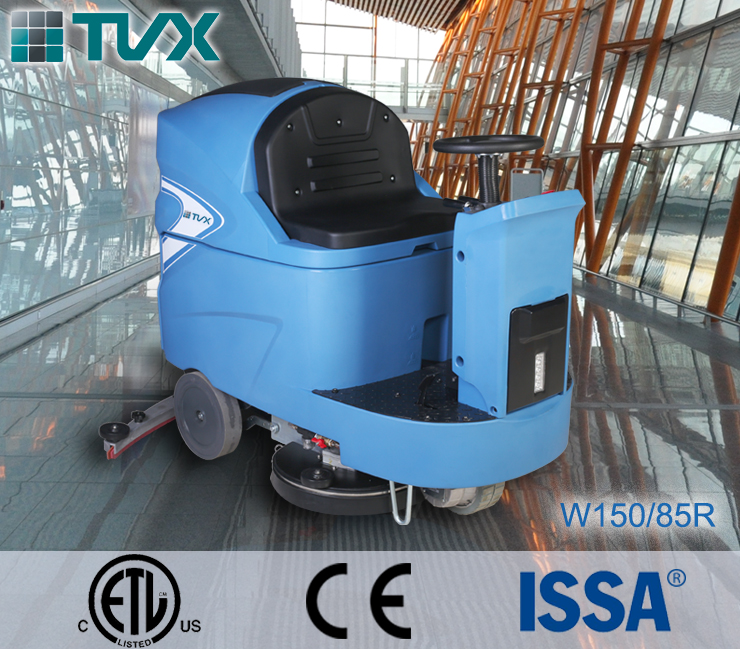 Top Quality ride-on operation floating brush head floor tile washing machine for sale