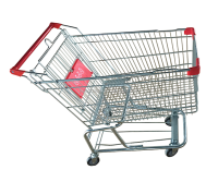 supermarket shopping cart steel made trolley supermarket equipment