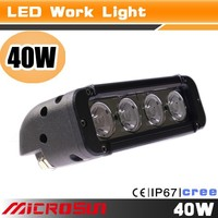 40W top first class towing light bar light only 0.5% defective rate led working lights for 4x4 jeep truck