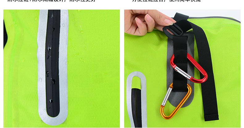 IPX7 accept customer logo printing color waterproof outdoor sport swimming kayaking backpack