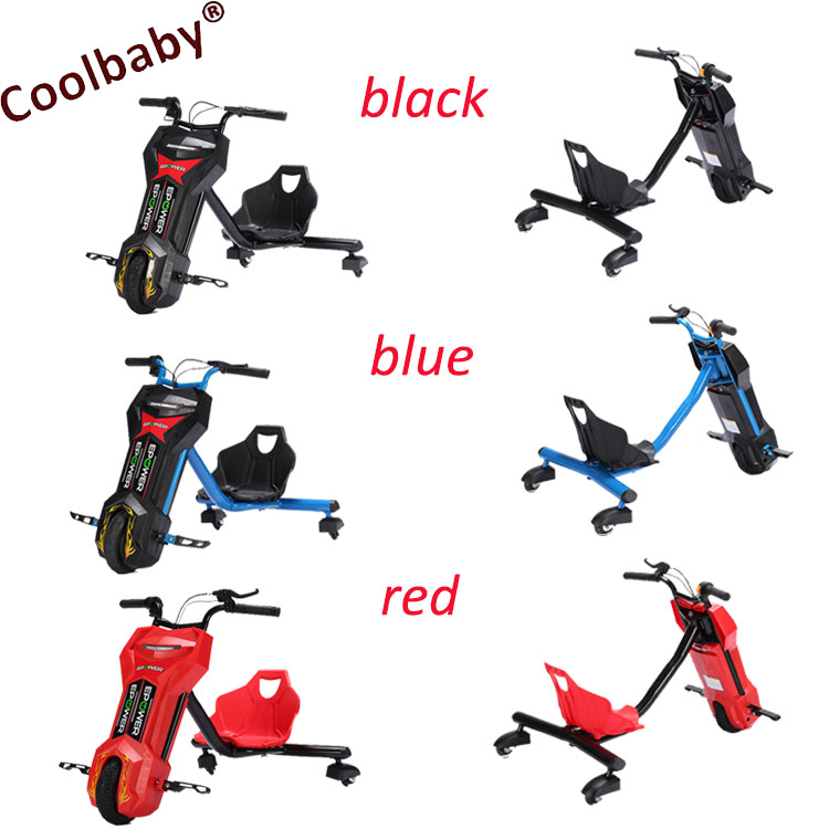 Coolbaby <strong>100</strong>/150/250/W 36V lithium USB water transfer color electric russia hot sale drift <strong>trike</strong>