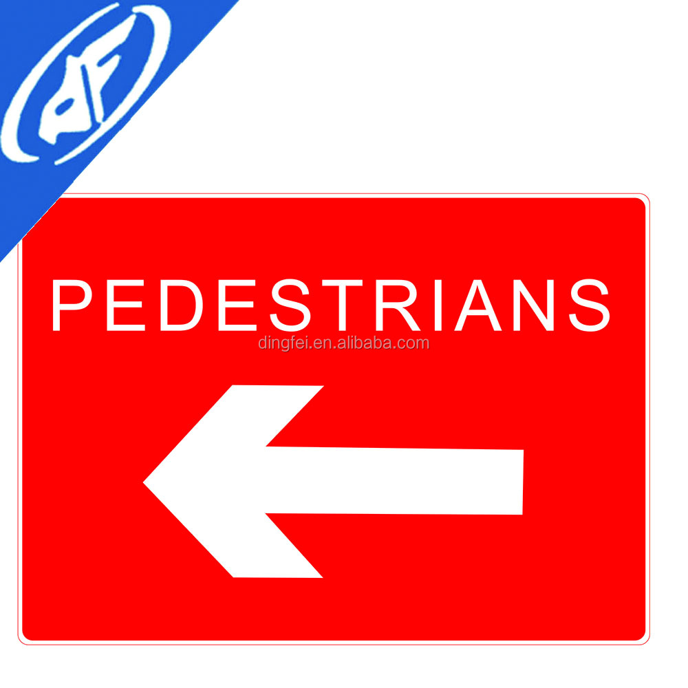 Reflective adhesive Pedestrians traffic sign