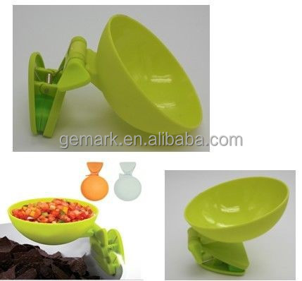 Mini plastic dip bowl with clip