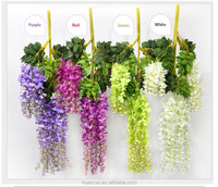 Wedding decoration artificial fabric orchid flowers wisteria flower HF101