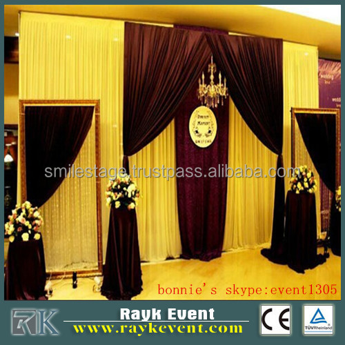 velvet backdrop pipe and drape event party rental