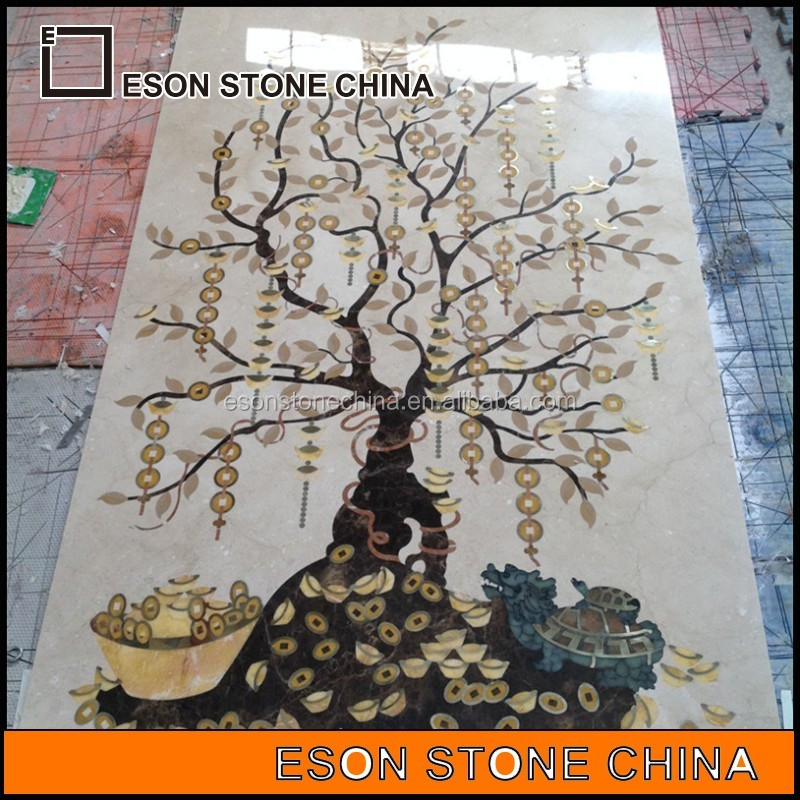 eson stone 158 selling marble <strong>scrap</strong>, water jet medallion from China Supplier