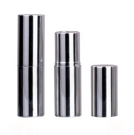 lipstick packaging empty silvery aluminum cosmetic tube